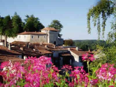 Aubeterre town view